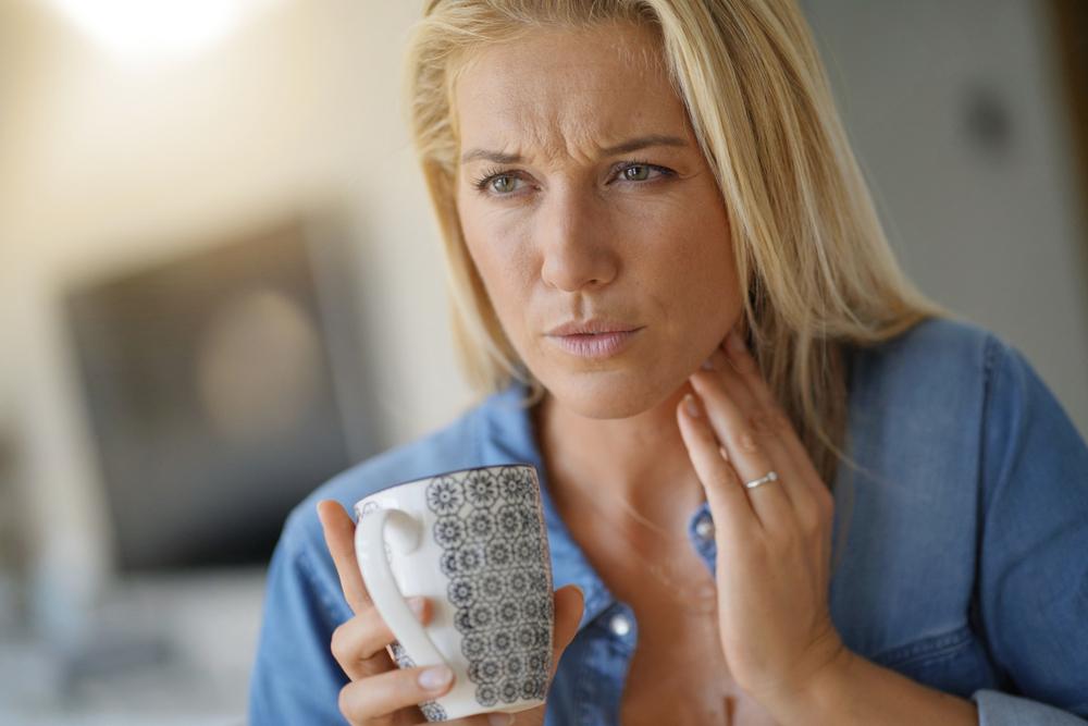Ból gardła z powodu przeziębienia